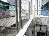 Vecchio edificio hong tetto kong top floor — Foto Stock