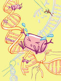 Genetic modification engineering — Stock Photo