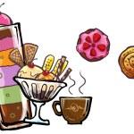 Ice cream and desert sweet illustration — Stock Photo #33970063