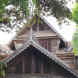 Classic Thai wooden house — Stock Photo