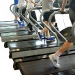 Running at the gym — Stock Photo