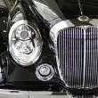 Foto Stock: Black classic car detail