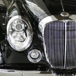 Black classic car detail — Stock Photo