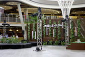 Small stage in Department store atrium — Stock Photo