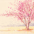 Sakura cherry blossom illustration — Stock Photo