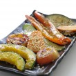 Grill vegetable isolated — Zdjęcie stockowe
