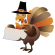 Happy thanksgiving, halloween turkey illustration. — Stock Vector