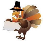 Happy thanksgiving, halloween turkey illustration. — Stock Vector