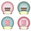 Cake icon vector — Stock Vector