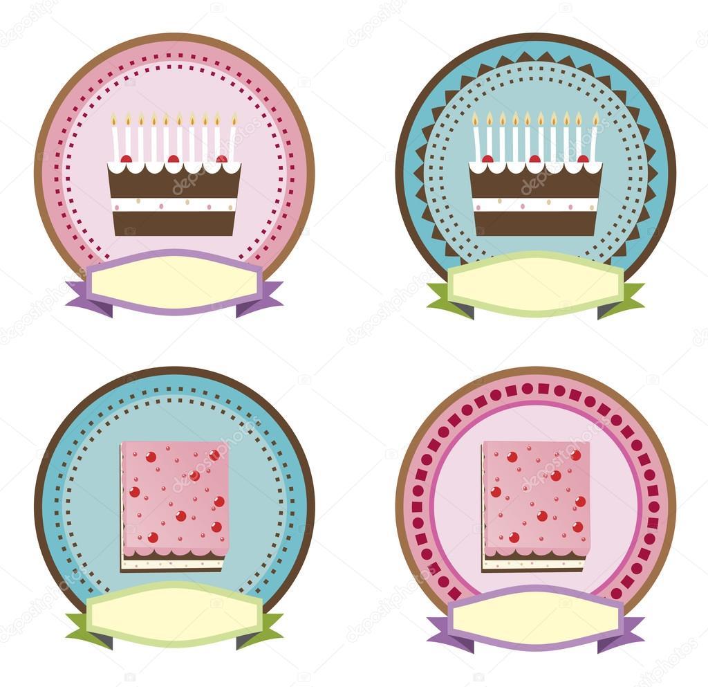 Cake icon vector — Stock Vector © glowonconcept