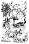 Abstract nature drawing — Stockfoto