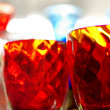 Colorful glasses background — Stockfoto