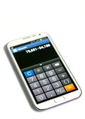 Mobile,smart phone calculator function — Stock Photo