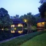 Tropical resort architecture lighting — Stock Photo #36023477