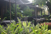 Tropical cafe terrace in the garden — 图库照片