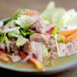 Spicy pork salad — Stock Photo