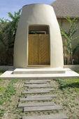 Entrance wood door design — Stock Photo