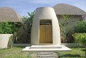 Diseño entrada puerta de madera — Foto de Stock