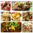 Thai food collage — Stock Photo