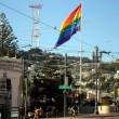 Rainbow flag, gay pride, Castro San Francisco — Stock Photo