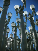 LACMA, Los Angeles County Museum of Art lamps installation art — Stock Photo