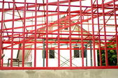 House construction red metal — Stock Photo