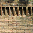 Castle brick wall detail — Stock Photo
