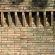 Stock Photo: Castle brick wall detail