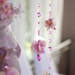 Flowers and beads curtain decorative for wedding — Stock Photo #37521657