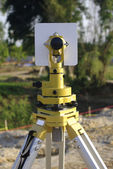 Engineer and architecture theodolite camera — Stock Photo
