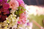 Flower decoration for wedding background — Stockfoto