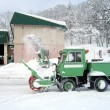 Stock Photo: Green snow truck