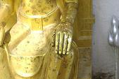 Buddha golden hand — Stock Photo