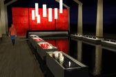 Oriental resort spa 3d rendering — Stock Photo