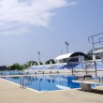 Standard swimming pool outdoor — Stock Photo #38494255