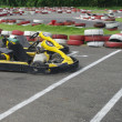 Go cart cars at the start line — Stock Photo
