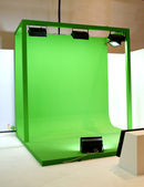 Green screen set for movie shooting — Stock Photo
