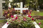 Emetery graveyard in the morning — Stock Photo
