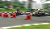 Speed go carting, abstract fast — Stockfoto