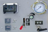 Painel de controle de máquina velha — Foto Stock