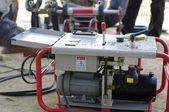 Construction pump machine — Stock Photo