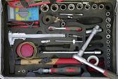 Construction tools box — Stockfoto