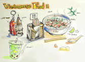 Vietnamese food illustration — Stock Photo