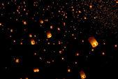 Floating lantern festival in Thailand — Stock Photo