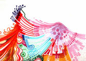 Abstract colourful background hand drawn — Stock Photo