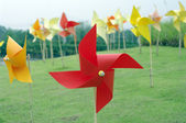 Colourful windmill field — Stock Photo