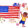 4th of july illustration — Stock Photo