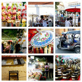 Chiangmai Thailand collage — Stockfoto