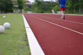Running track exercise — Stock Photo