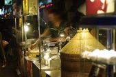 Asia flea market at night — Stock Photo